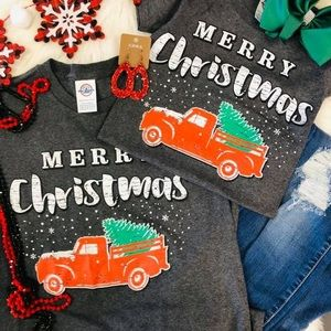 Red Truck Christmas Tee $17